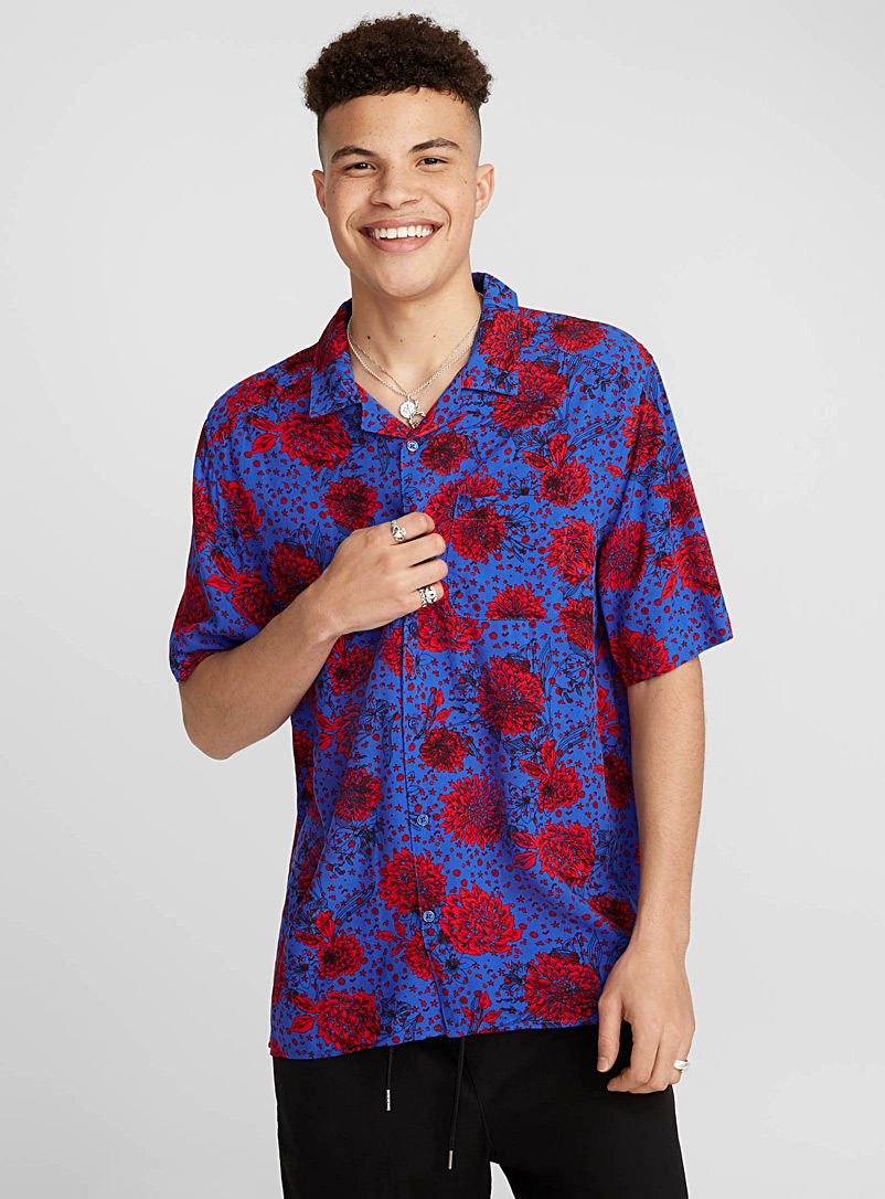 Neo tropical camp shirt - Short sleeves - Blue
