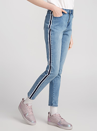 Striped high-rise jegging