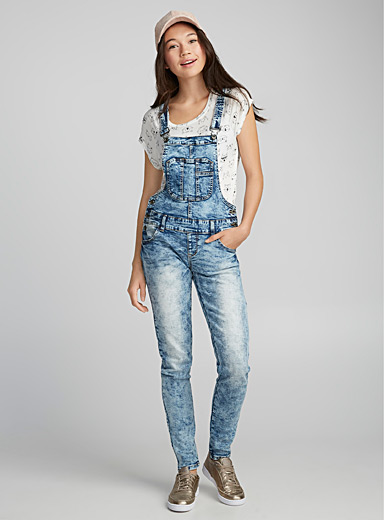 Bleached faded overalls