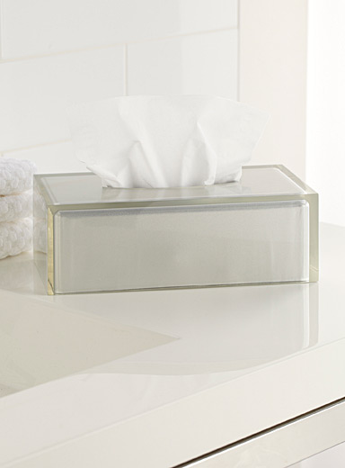 Acrylic block tissue dispenser