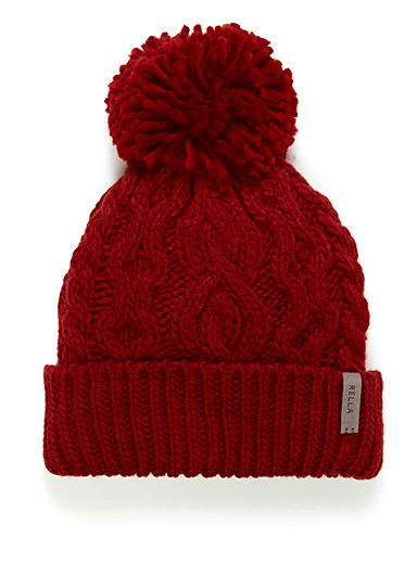 Lined cable knit tuque