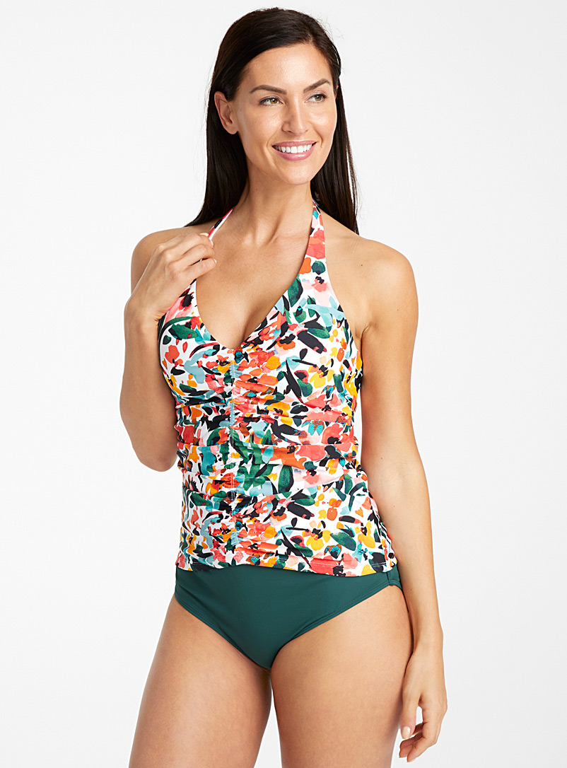 Anne Cole Assorted Brushstroke floral tankini for women