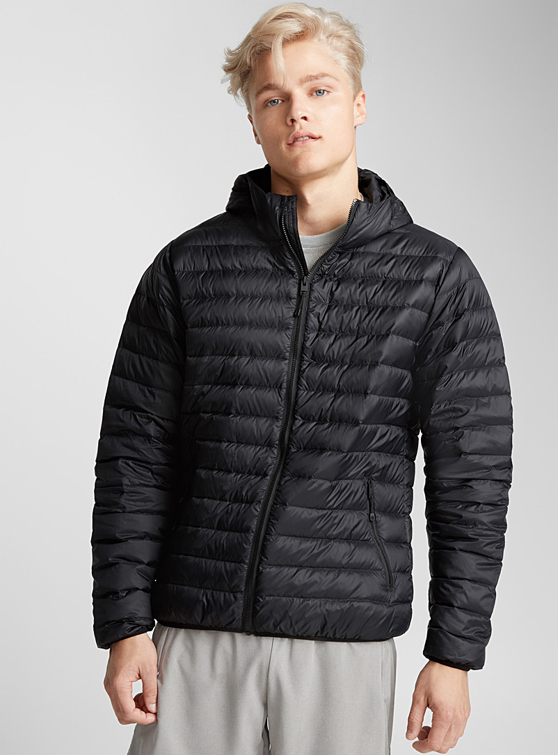 Solid quilted down jacket - Outdoor - Black