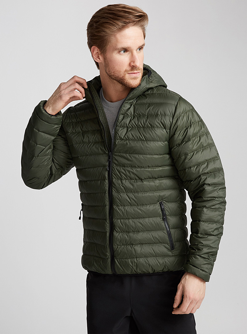 Solid quilted down jacket - Outdoor - Green