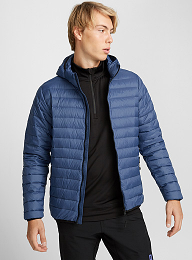 Solid quilted down jacket