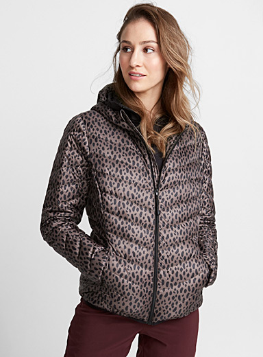 Recycled nylon quilted jacket