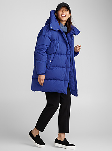 Large hood down jacket