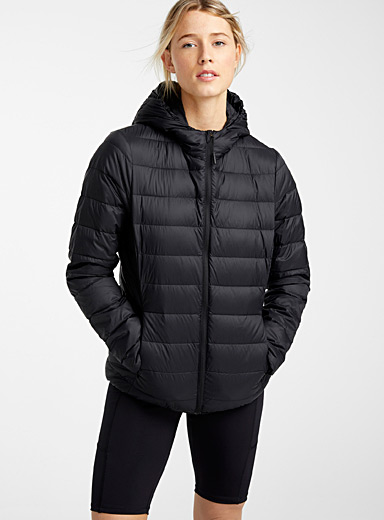 Recycled nylon packable puffer jacket