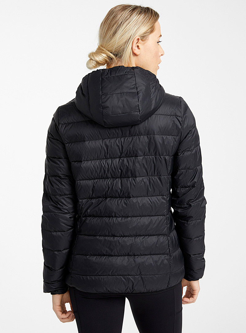 I.FIV5 Black Recycled nylon packable puffer jacket for women
