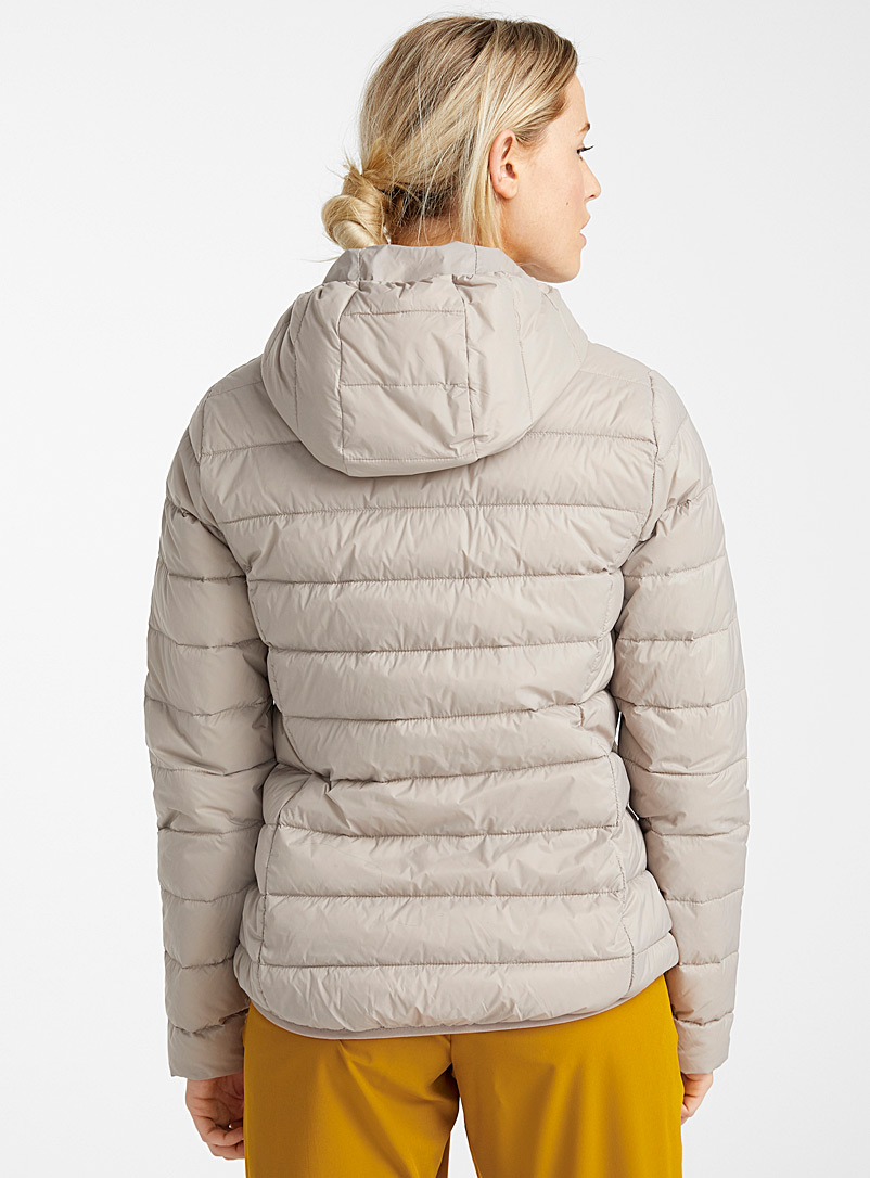 I.FIV5 Light Brown Recycled nylon packable puffer jacket for women