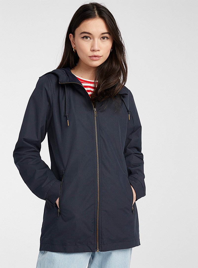 Twik Marine Blue Recycled polyester utility parka for women