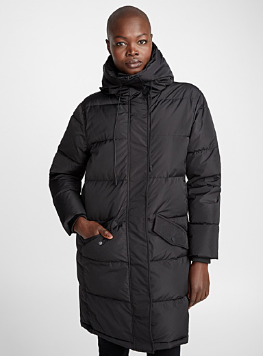 Satiny down puffer jacket
