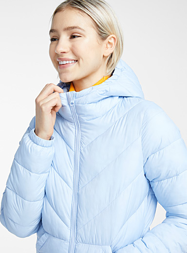 Recycled polyester packable puffer jacket