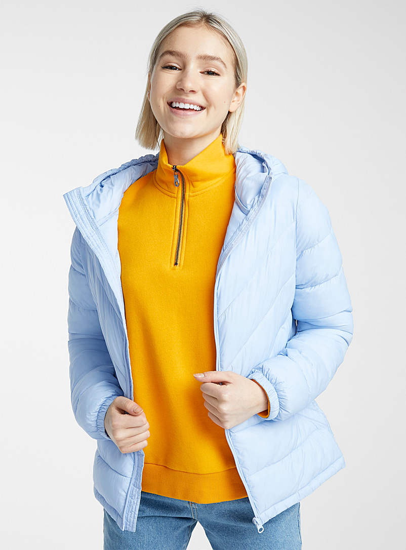 Recycled polyester packable puffer jacket - Quilted and Down Jackets - Light blue