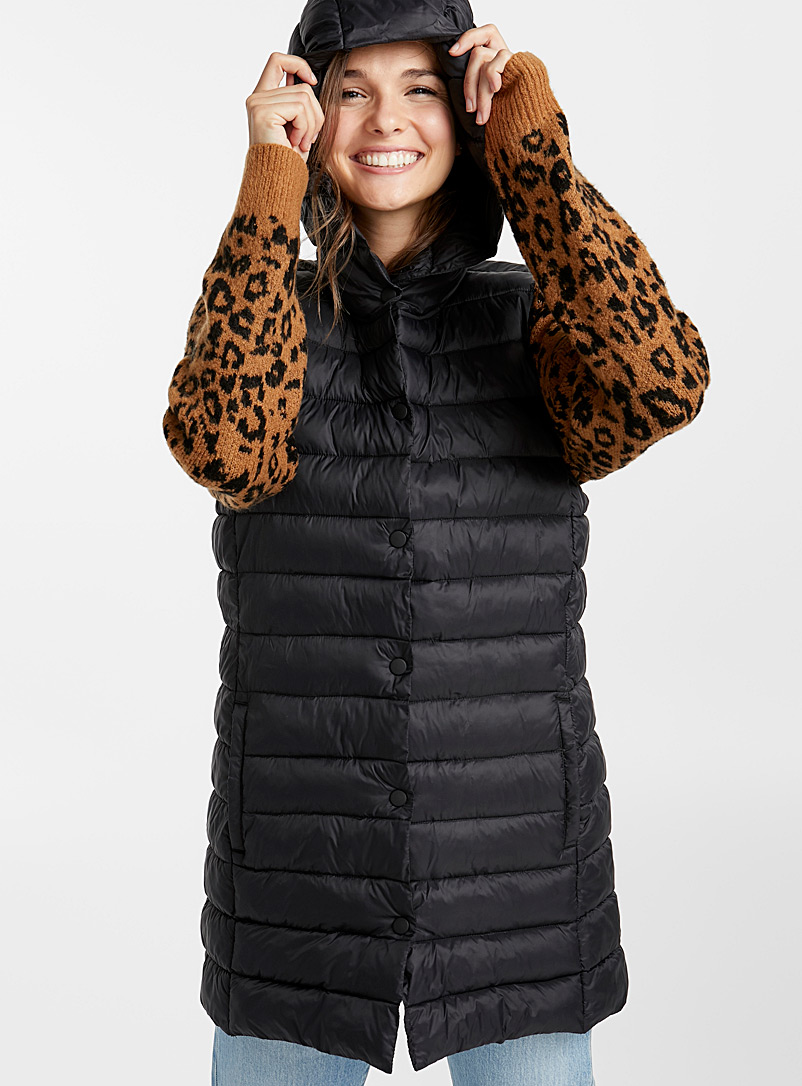 Recycled nylon quilted jacket - Quilted and Down Jackets - Black