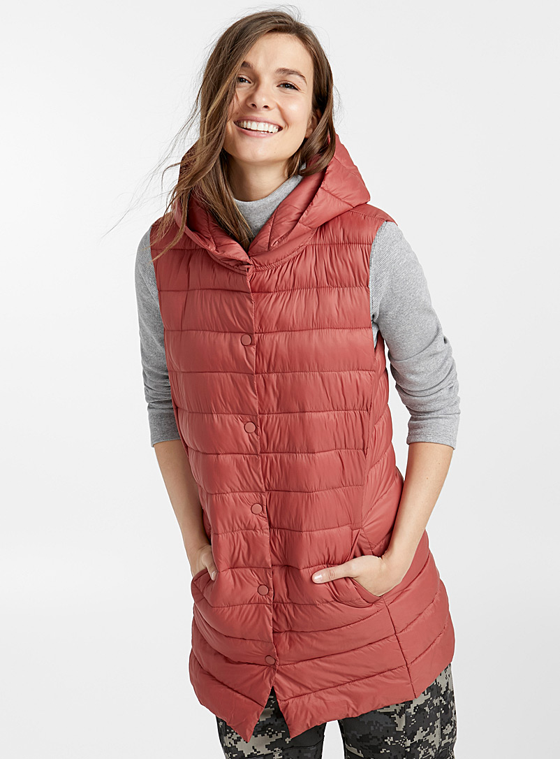 Recycled nylon quilted jacket - Quilted and Down Jackets - Medium Pink