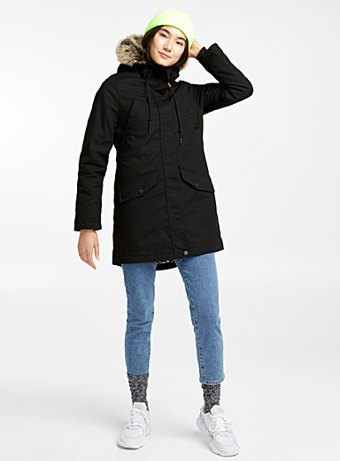 Flannel-lined parka