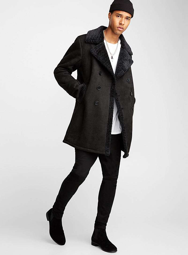 Faux-shearling coat - Overcoats - Oxford