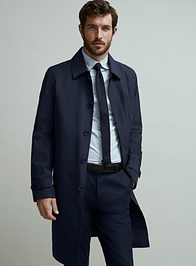 Removable lining trench coat