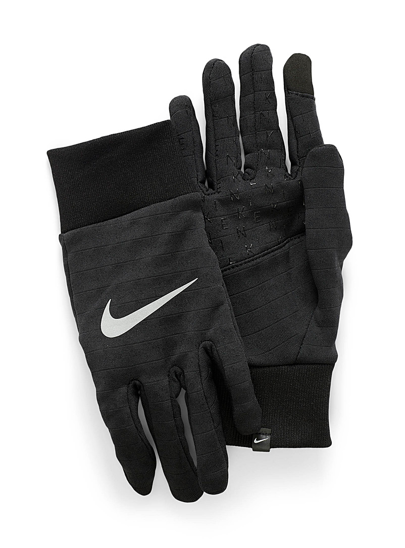 Nike Black Therma running gloves for men