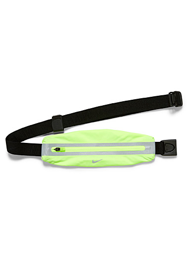Nike Bright Yellow Stretch mini belt bag for men