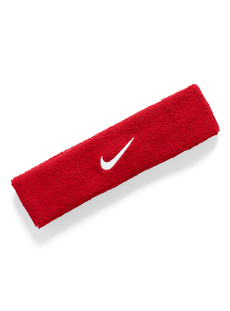 Nike Red Terry Swoosh headband for men