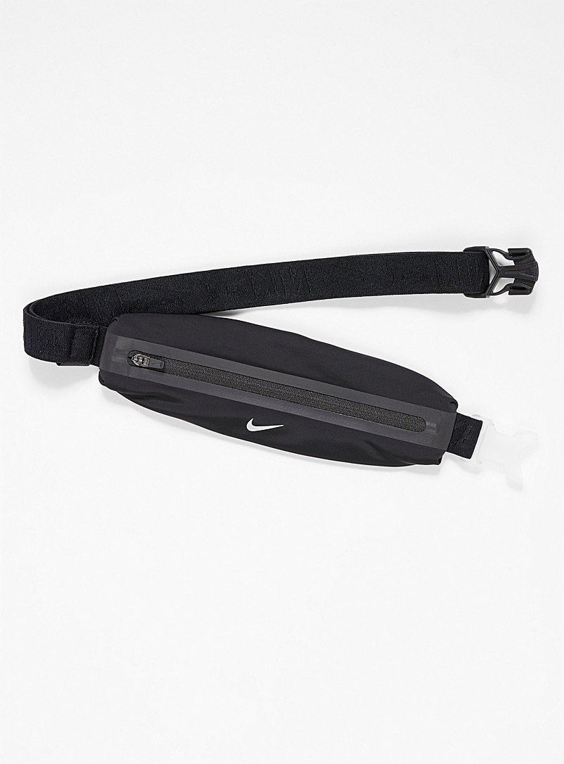 Nike Black Stretch mini belt bag for men
