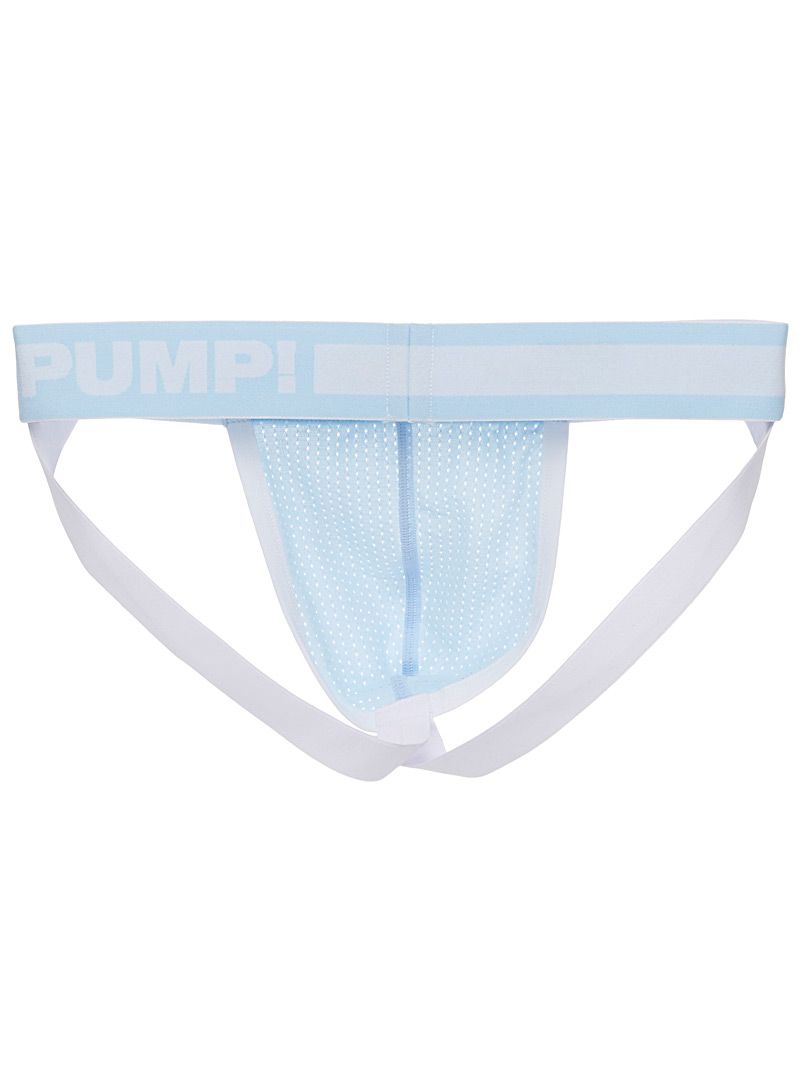 Pump! Marine Blue Perforated microfibre jockstrap for men