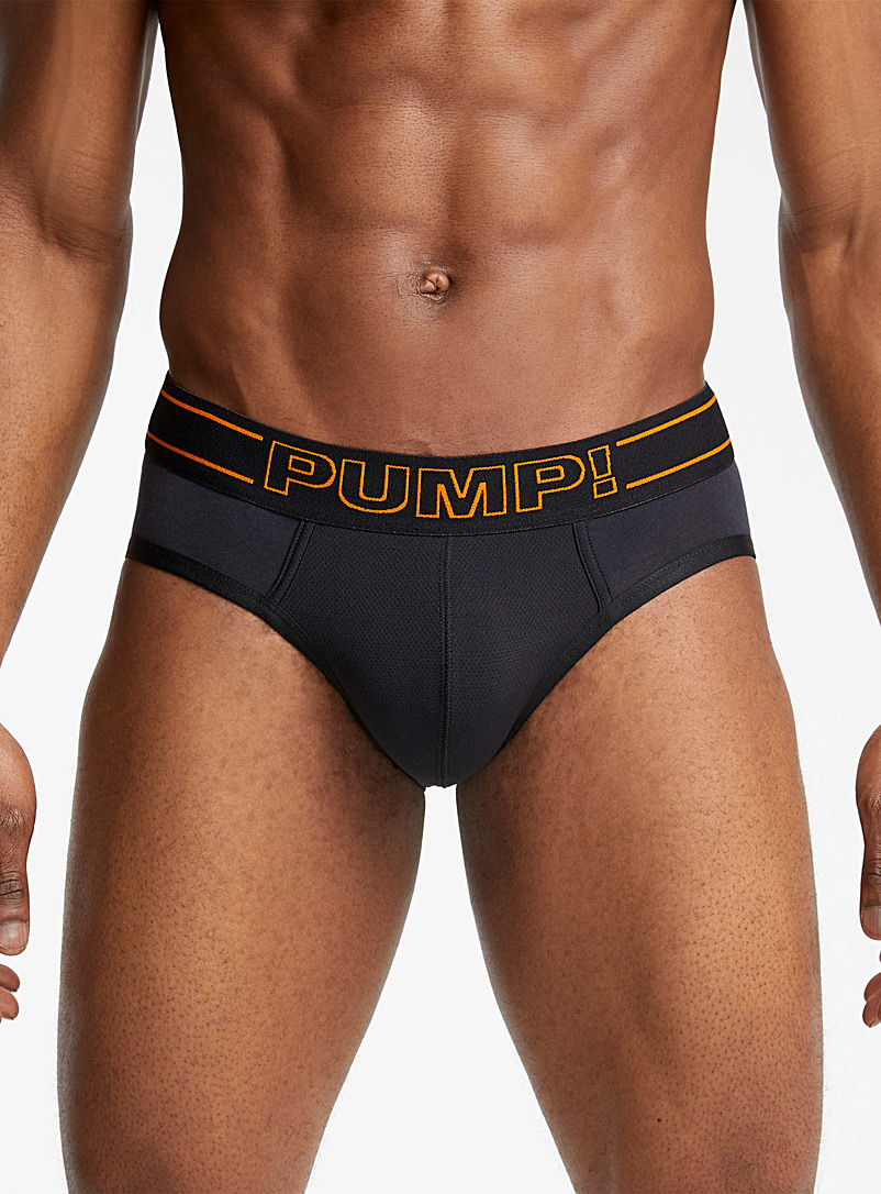 Orange accent brief - Briefs - Black