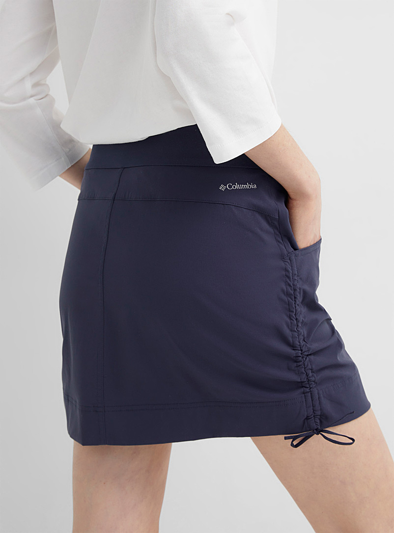 Columbia Black Anytime Casual gathered skort for women