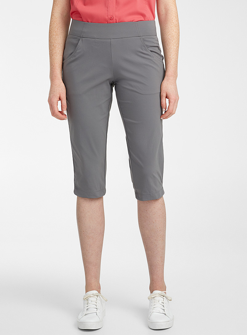 Columbia Grey Anytime Casual stretch capris for women