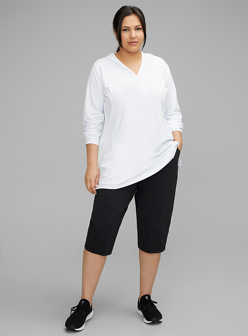 Columbia Black Anytime Casual stretch capris Plus size for women