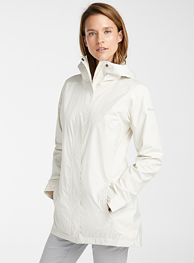 Columbia Cream Beige Splash A Little II breathable raincoat for women