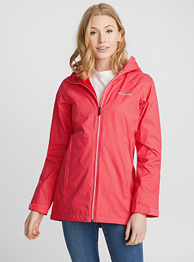 Switchback lined long rain jacket