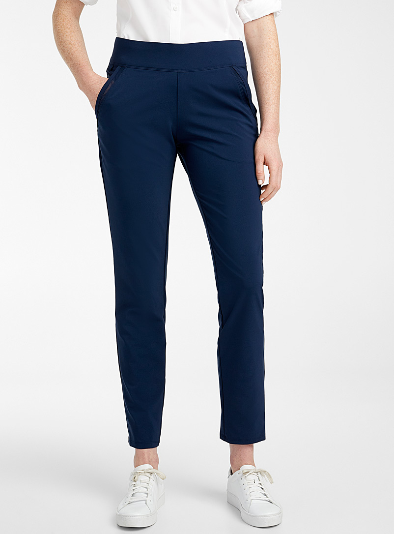 Columbia Marine Blue Slack Water woven pant for women