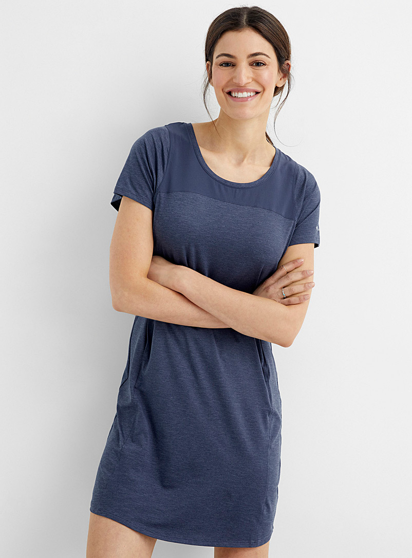 Columbia Marine Blue Place to Place II T-shirt dress for women