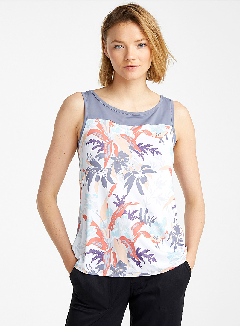 Columbia Patterned Grey Chill River floral tank for women