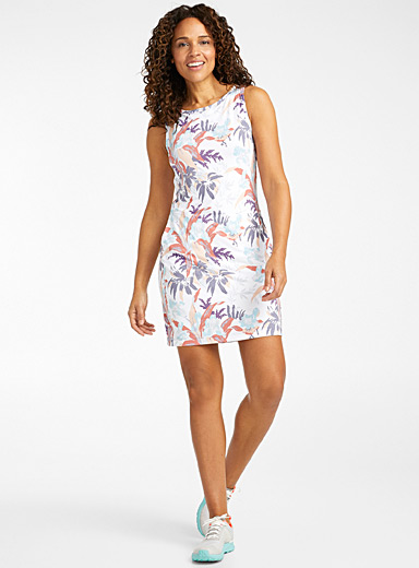 Columbia Patterned White Freezer tank dress for women