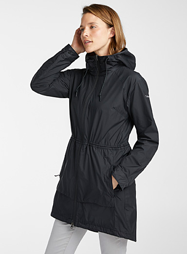 Columbia Black Sweet Maple fitted raincoat for women