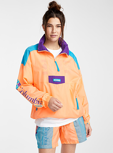 Santa Ana anorak  Turquoise, purple and peach