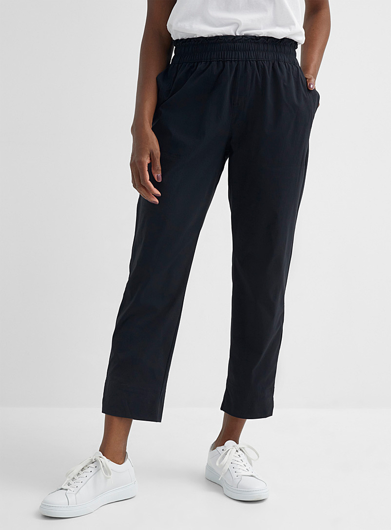 Columbia Black Uptown Crest elastic-waist pant for women