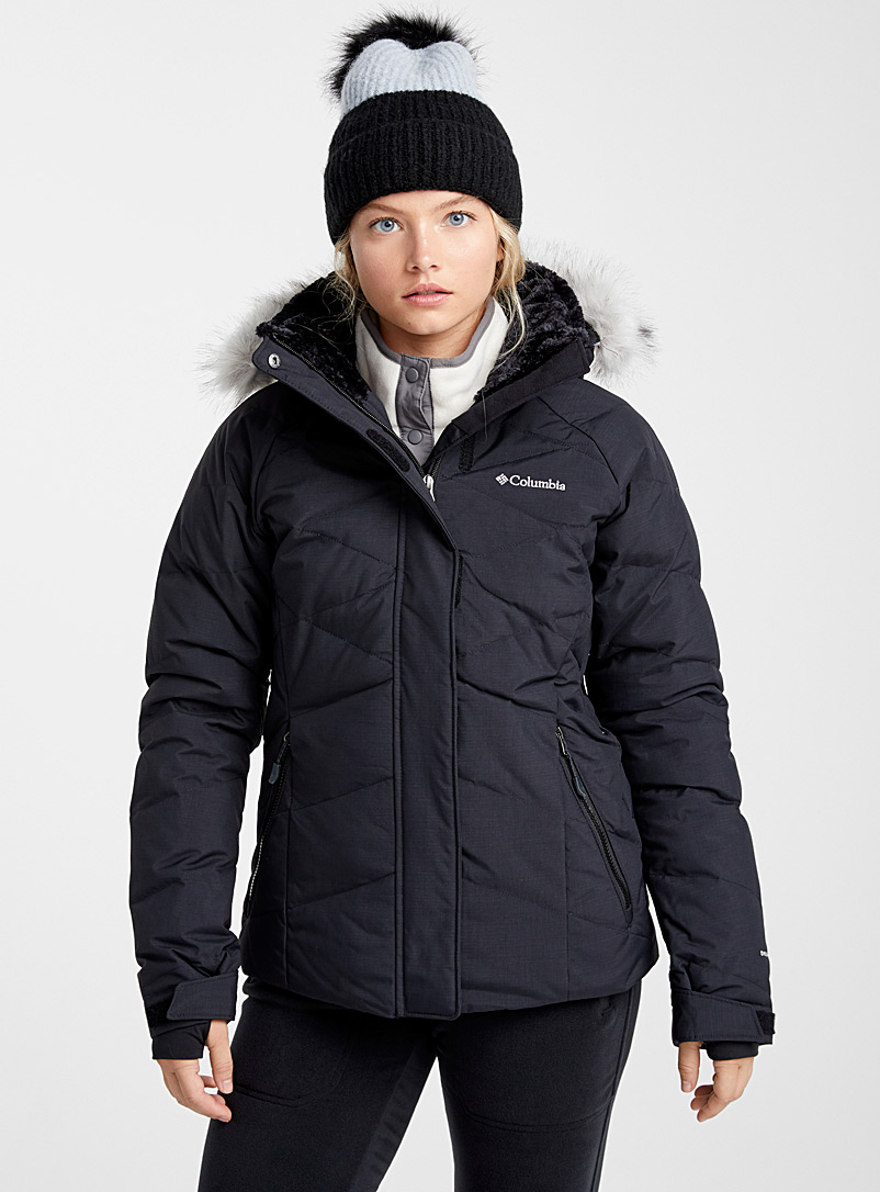 Lay D cocoon neck coat  Active fit - Skiing - Black