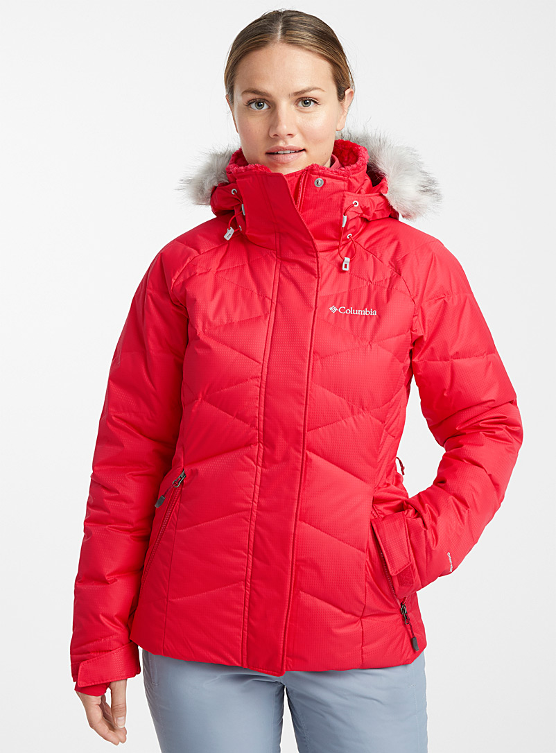 Lay D cocoon neck coat  Active fit - Skiing - Red