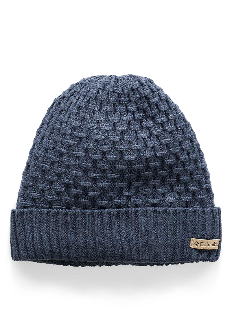 Geometric cable tuque - Tuques & headbands - Dark Blue
