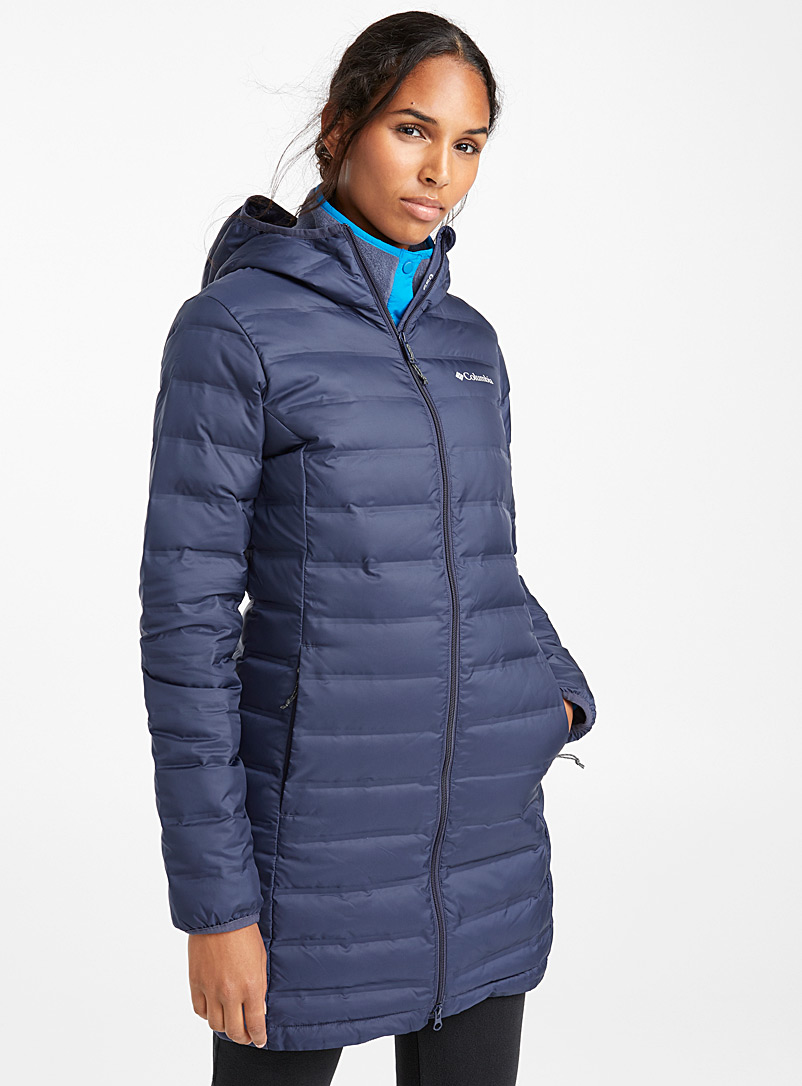 Columbia Dark Blue Lake 22 quilted jacket  Long fit for women