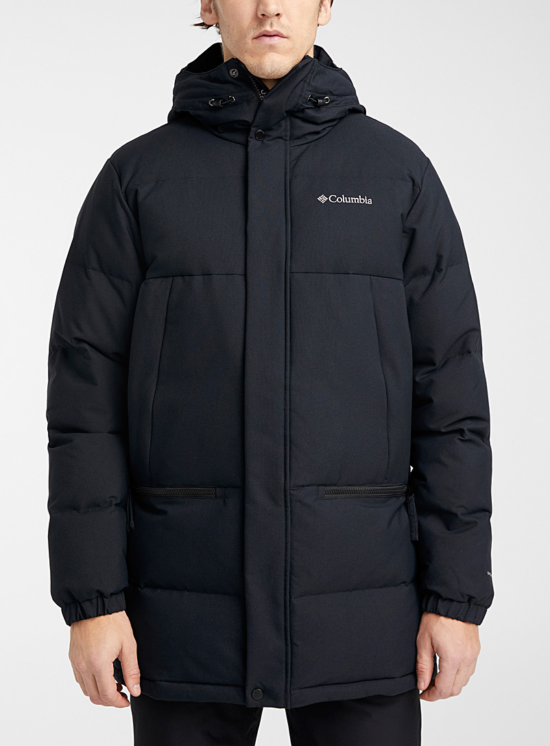 Columbia Black Rockfall quilted parka for men