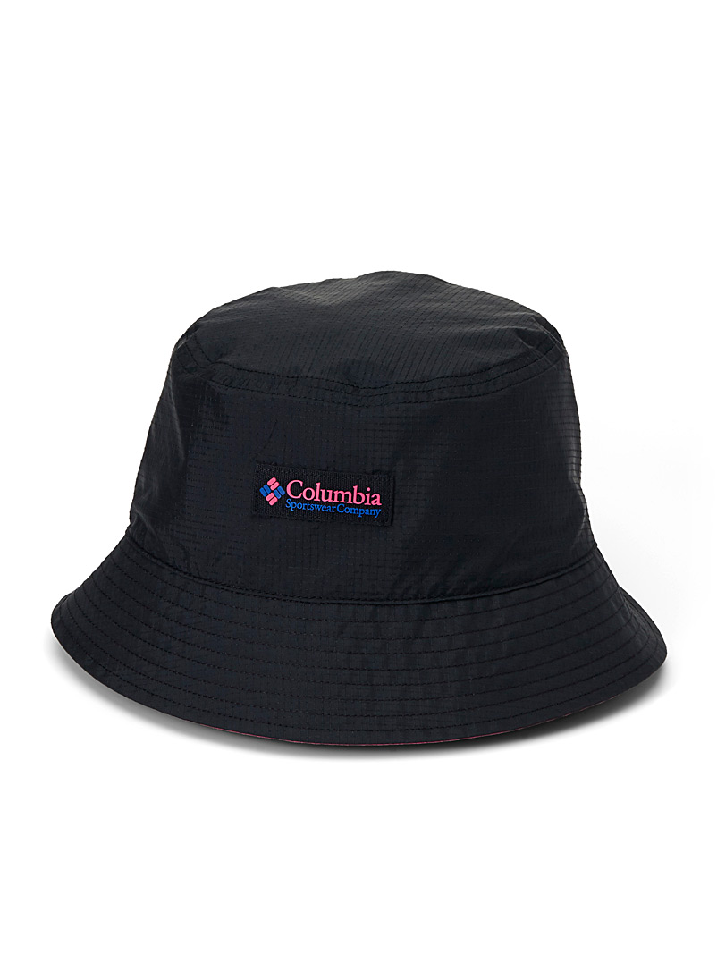 Columbia Patterned Black Roatan Drifter II reversible bucket hat  Black, blue and fuchsia for men