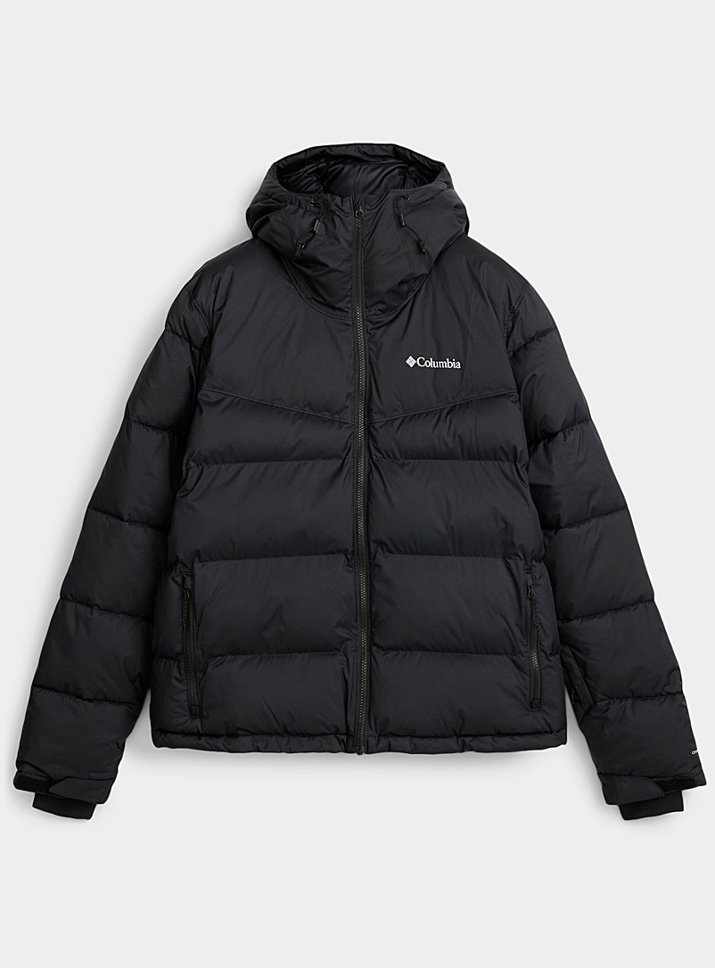 Columbia Black Iceline Ridge puffer jacket  Relaxed fit for men