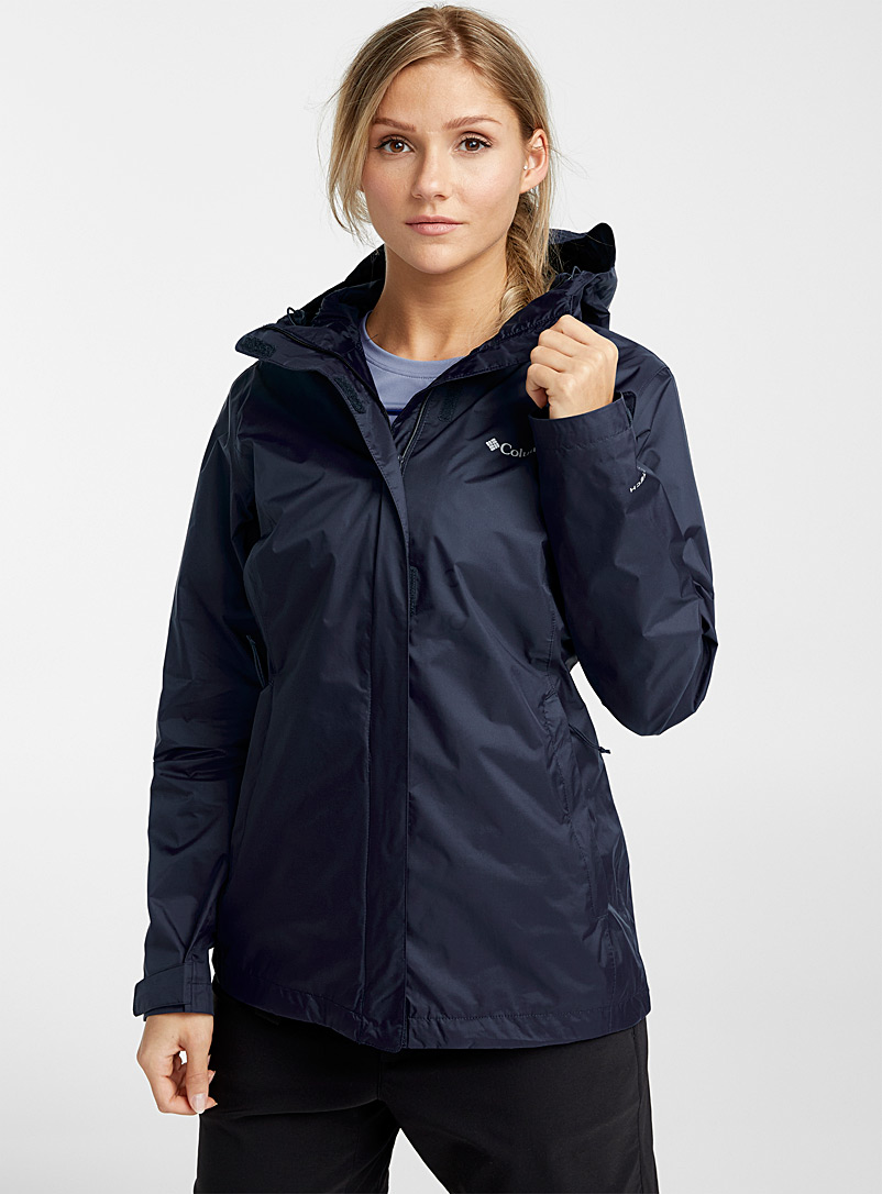 Columbia Marine Blue Arcadia packable rain jacket for women