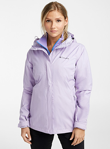 Columbia Lilacs Arcadia packable rain jacket for women